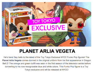Planet Arlia Vegeta NYCC Exclusive