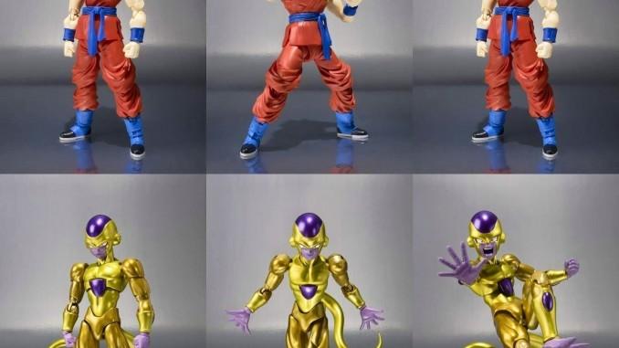 SH Figuarts Golden Frieza and Super Saiyan God Goku