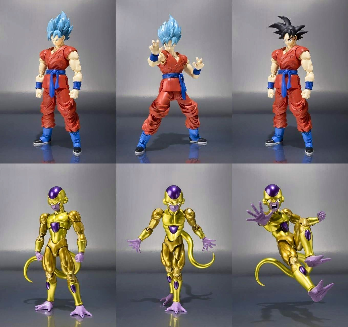 SH Figuarts Golden Frieza and Super Saiyan God Goku