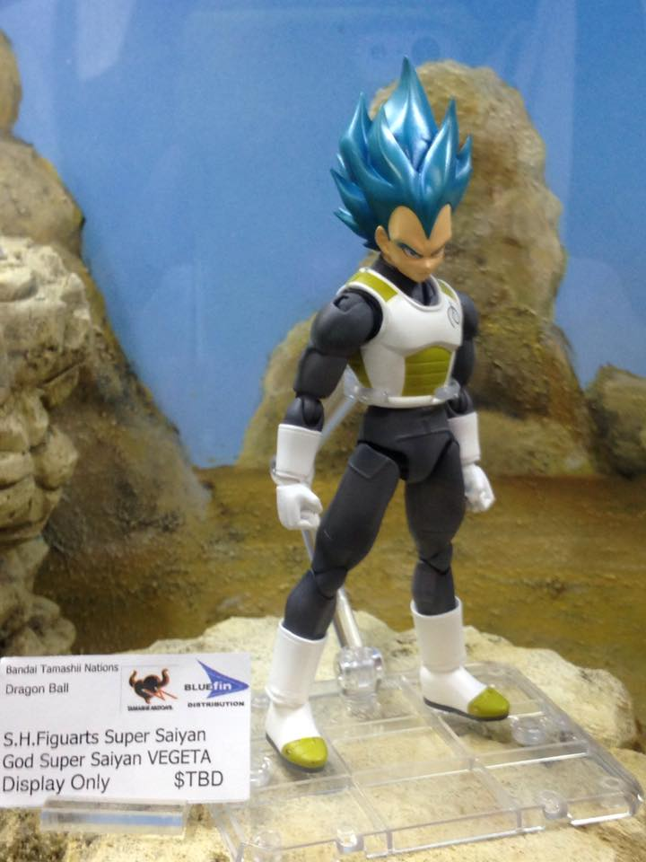 SDCC 2015 Tamashii Nations Booth Super Saiyan God Super Saiyan Vegeta