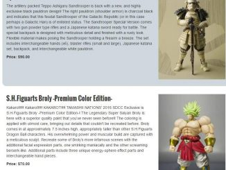 SDCC 2016 Broly Price Leak