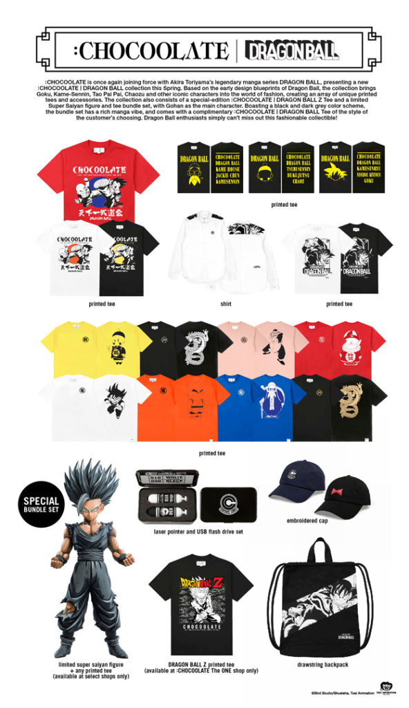 Chocoolate x Dragon Ball Collaboration