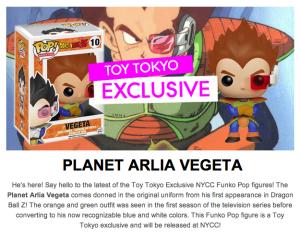 Planet Arlia Vegeta NYCC Exclusive